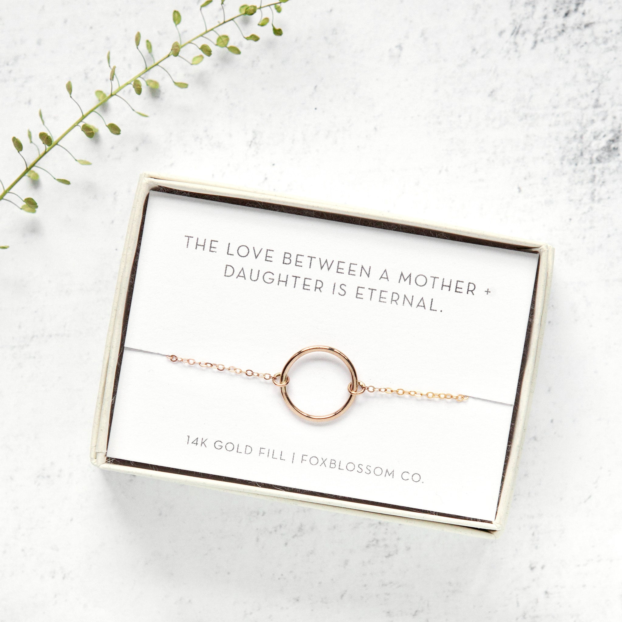 Foxblossom Co. Mother Daughter Eternity Bracelet