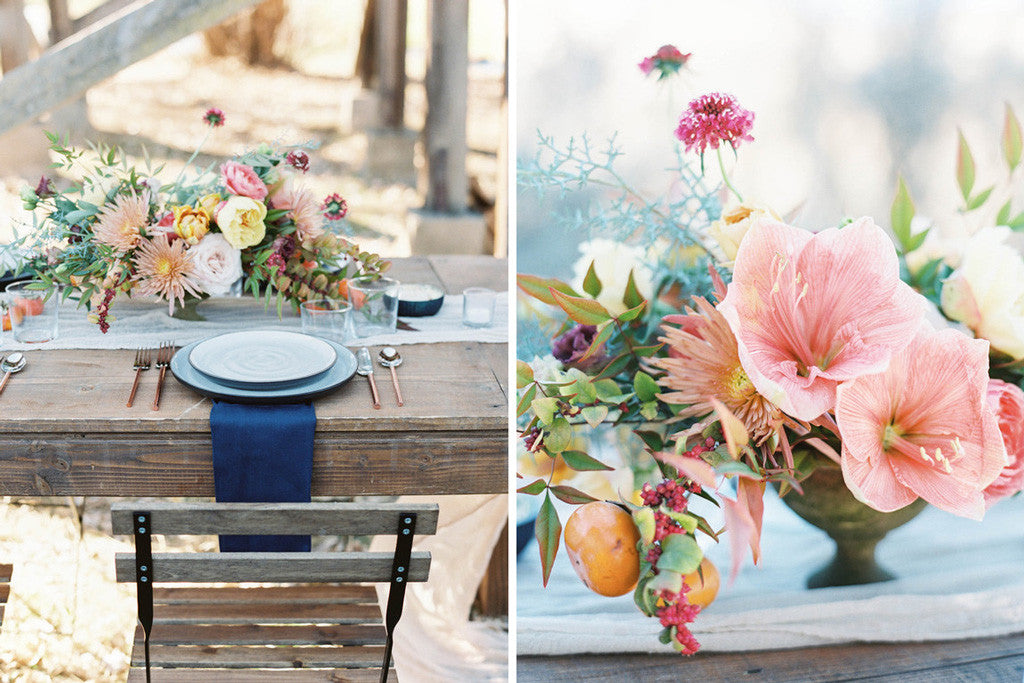 Florals by Swoon Floral Design | Photos by Maria Lamb via 100 Layer Cake