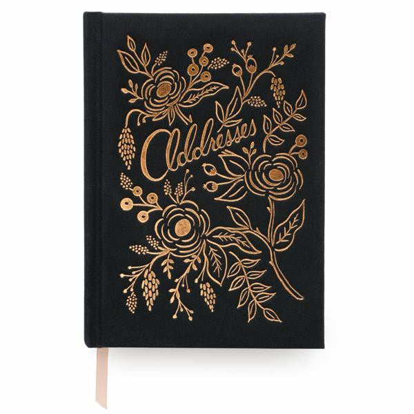 rifle paper co. gold foil address book