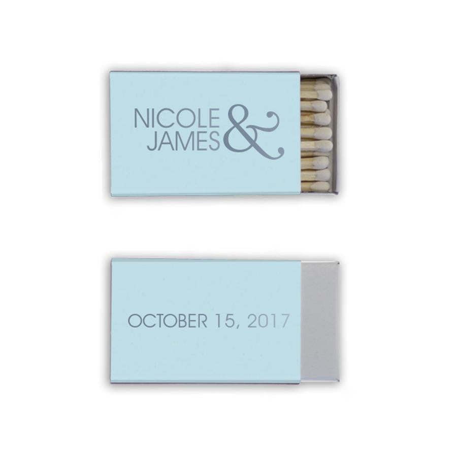 personalized wedding matches, custom wedding favors, premium custom matches, unique favors, shower favors