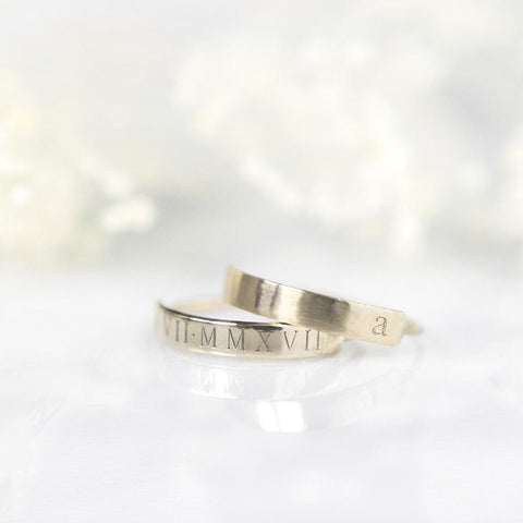 Engraved Bar Rings, Gold Rings, stacking rings, personalized stacking rings, minimal jewelry, jewelry gifts, personalized jewelry for mom, wife, daughter, girlfriend, sister, aunt, granddaughter, best jewelry gifts for her