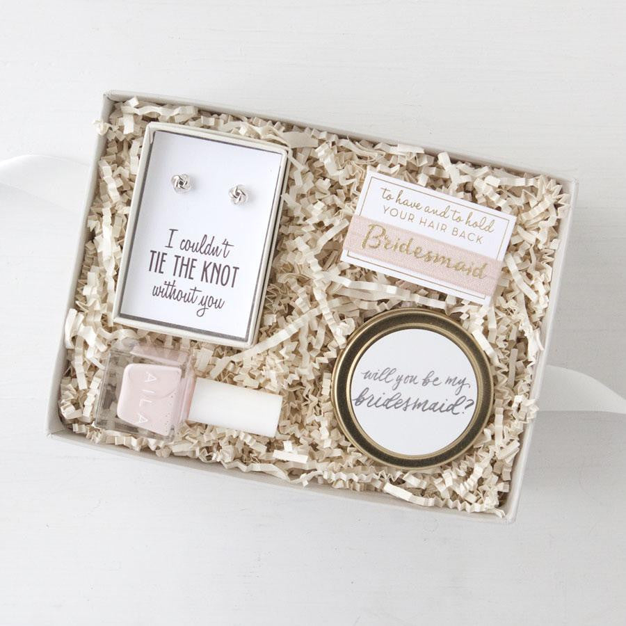 best bridesmaid gifts custom bridesmaid gift boxes bridesmaid proposals bridesmaid gift sets ... & Be My Bridesmaid Gift Box - Foxblossom Co.