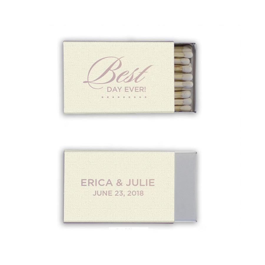custom wedding favors, personalized wedding matchbooks, unique favors, bridal shower favors, engagement party favors, same sex wedding