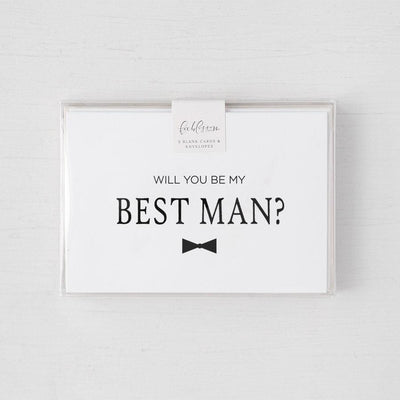 """Be My Best Man"" Matte Black Foil Greeting Card & Envelope"