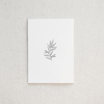Letterpress Botanical Greeting Card & Envelope