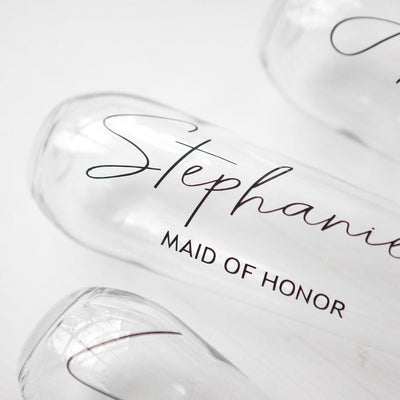 Personalized Bridal Party Stemless Flute
