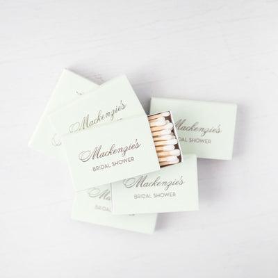 Bridal Shower Custom Matchboxes