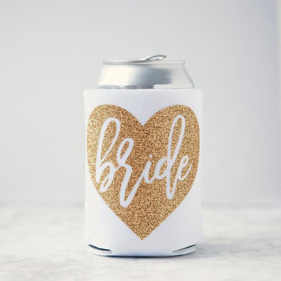 Bride Glitter Can Cooler