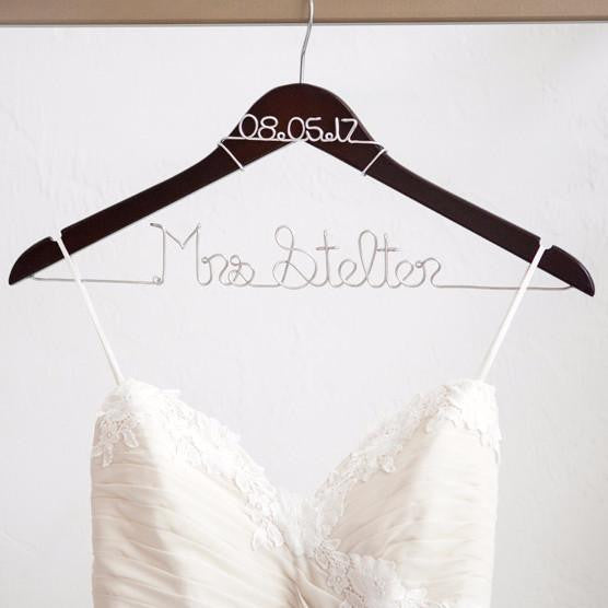 Bride Hanger with Wedding Date