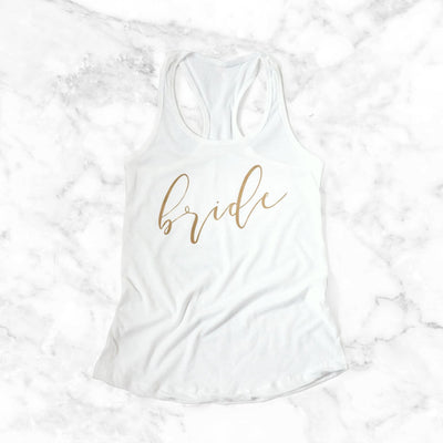 bride tank top, bridal apparel, bridal shower gifts, bachelorette party