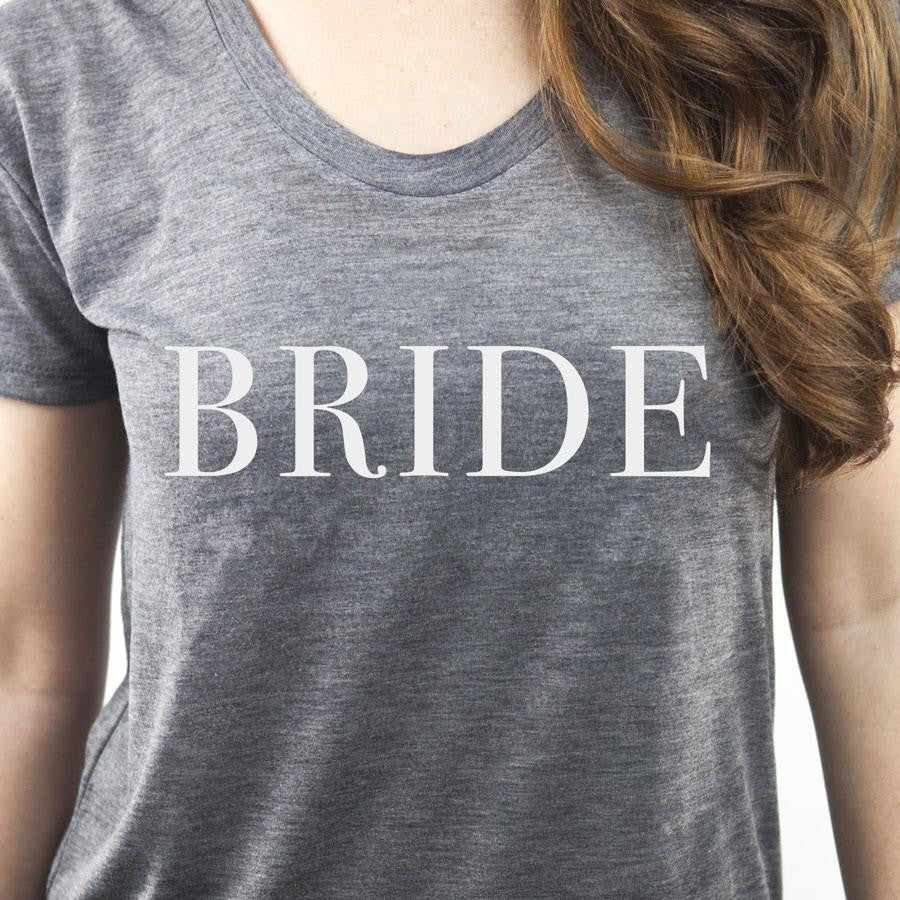 best gifts for brides, engagement gift ideas, unique bridal shower gifts, honeymoon shirts, bridal apparel, cute bride tee