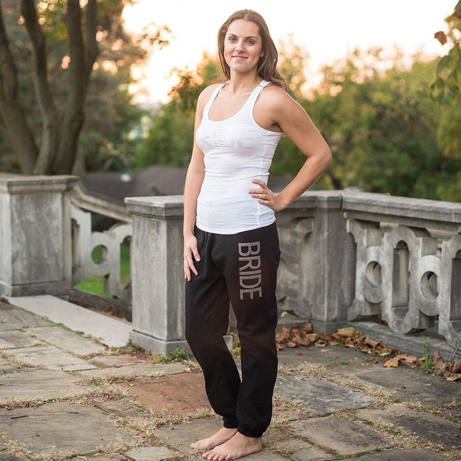 rhinestone bride sweatpants