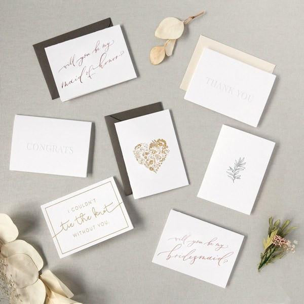 letterpress greeting cards, luxury gifts, curated gifts, wedding gifts