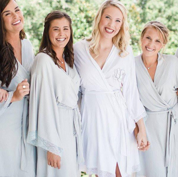 jersey lace robes, bridesmaid robes, wedding robes, bridesmaid gifts