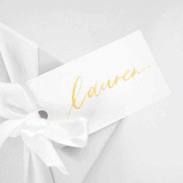 calligraphy name tags for personalized bridesmaid gifts