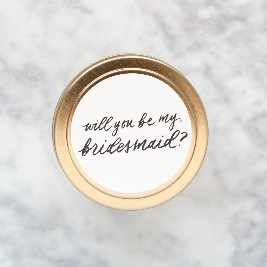 will you be my bridesmaid travel candles, bridesmaid gifts, wedding gifts