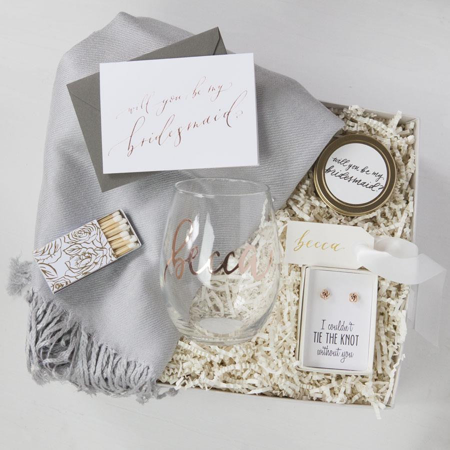 Engagement Party Gift Ideas: Custom Bridesmaid Gift Boxes