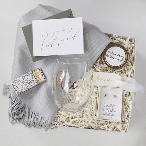 Unique Bridesmaid Gifts Personalized Bridesmaid Gifts Foxblossom Co
