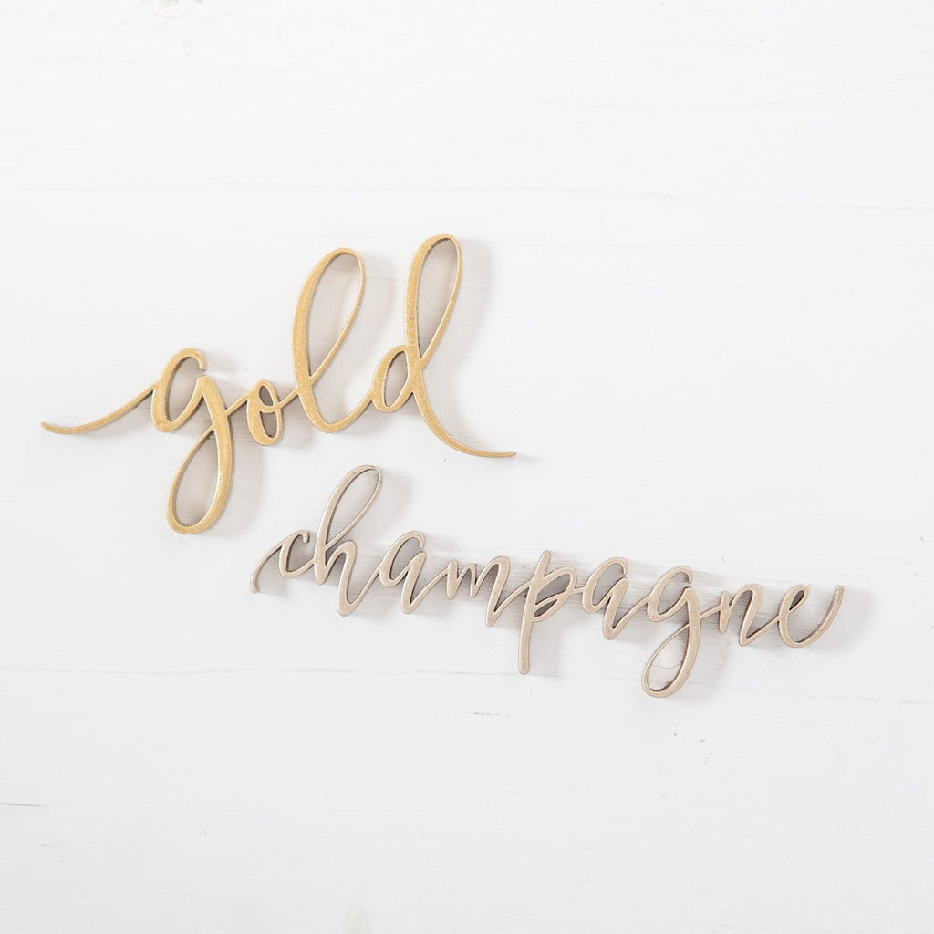 Metallic Love Cake Topper