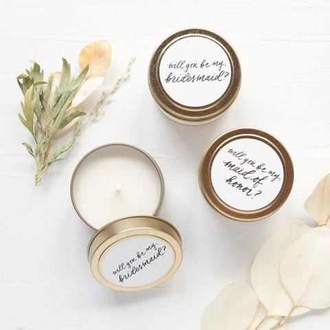 be my bridesmaid candle, bridesmaid proposals, bridesmaid gifts, proposal ideas