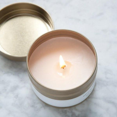 natural soy candles, hand poured candles, travel tin candles