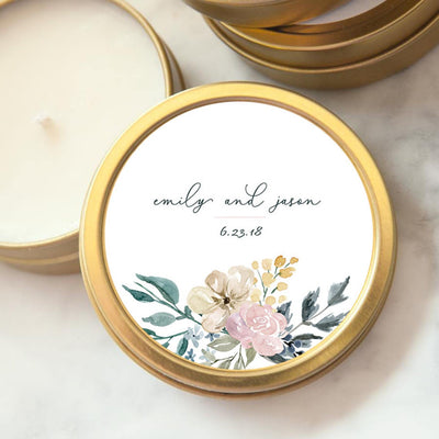 Custom Wedding Favor Candle - Emily