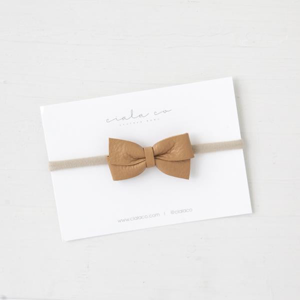 Leather Baby Bow | Natural