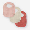 Cotton Muslin Classic Bib 3 Pack | Rose Petal