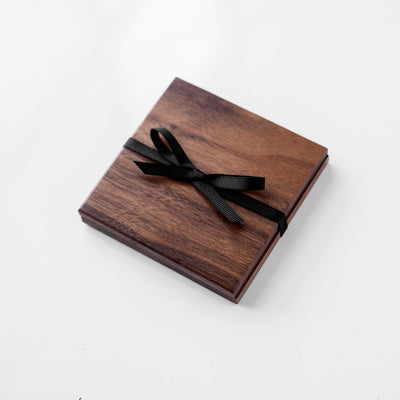 Handmade Walnut Wood Coasters (Set of 2)