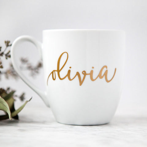 personalized mug, bridesmaid gifts, gifts for her, gifts for boss, girl boss