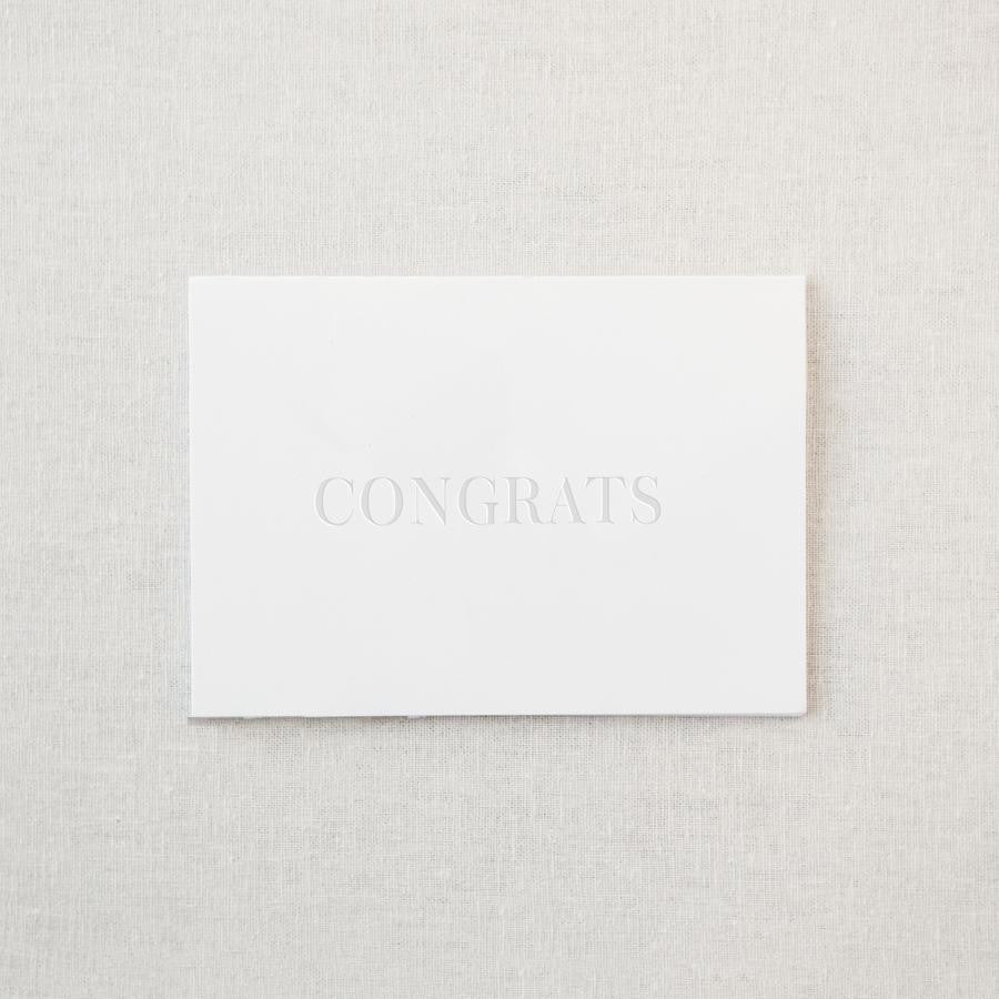"Embossed ""Congrats"" Greeting Card & Envelope"