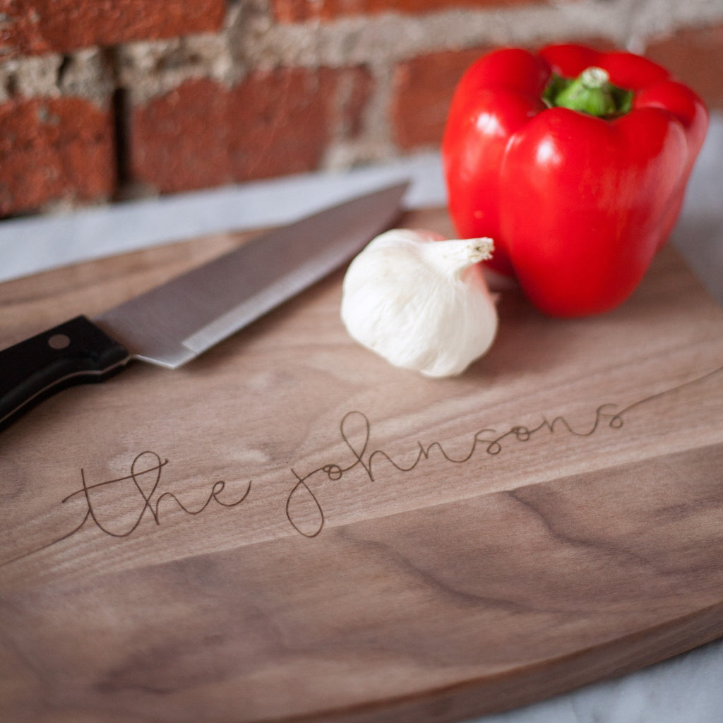 personalized cutting board, couples gifts, housewarming gift, wedding gift