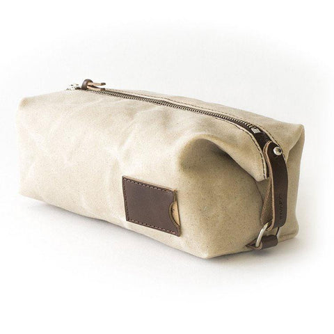 Men's Waxed Canvas and Leather Dopp Kit
