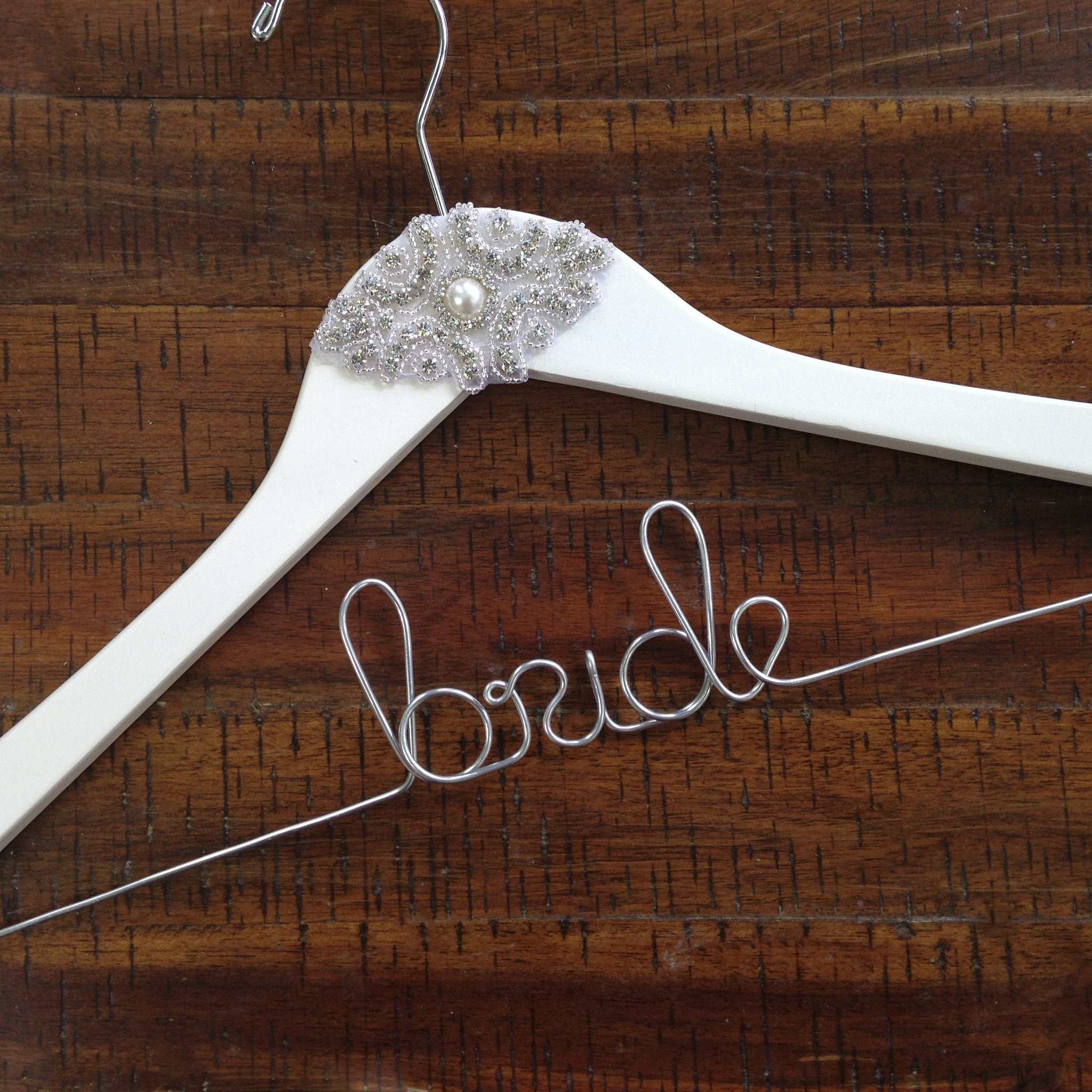 bridal dress hanger with rhinestone applique wedding hangers personalized wedding dress hangers bridal shower gifts Gatsby wedding