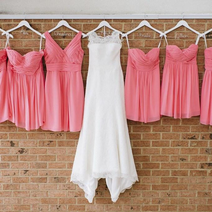 Personalized Wedding Hangers, Bridesmaid Hangers, Bridal Dress Hangers, Bridesmaid Gifts, bridesmaid proposals, bridesmaid gift ideas