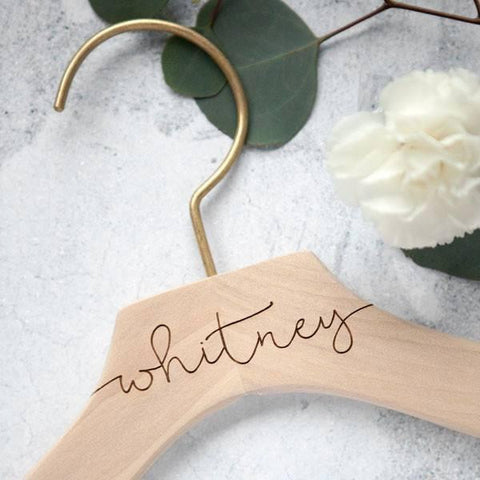 Engraved Bridal Party Hangers, Personalized Bridesmaid Gifts, Wedding Dress Hangers