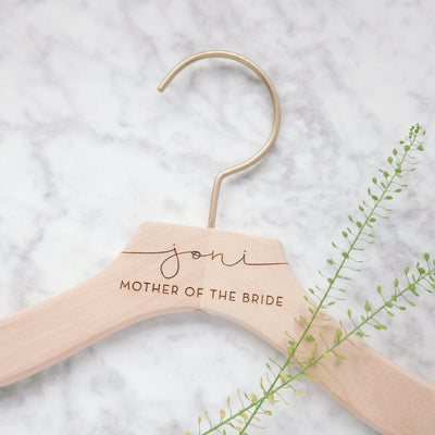 Mother of Bride gifts, Engraved Bridal Party Hangers, Personalized Bridesmaid Gifts, Wedding Dress Hangers