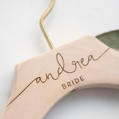 Engraved Bride Hanger, Bridal Wedding Dress Hanger