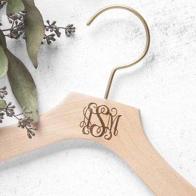 bridal hangers, wedding dress hangers, monogrammed bride, personalized bride gifts