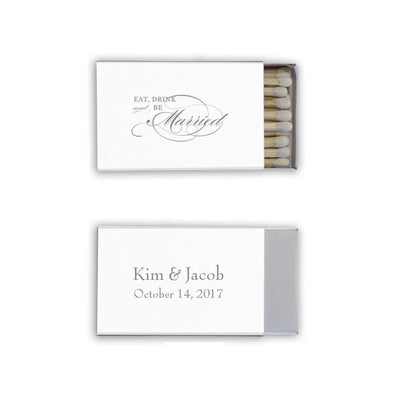 wedding favors, personalized favors, best wedding favor ideas, custom wedding matchbooks, matchboxes, simple monogram favors