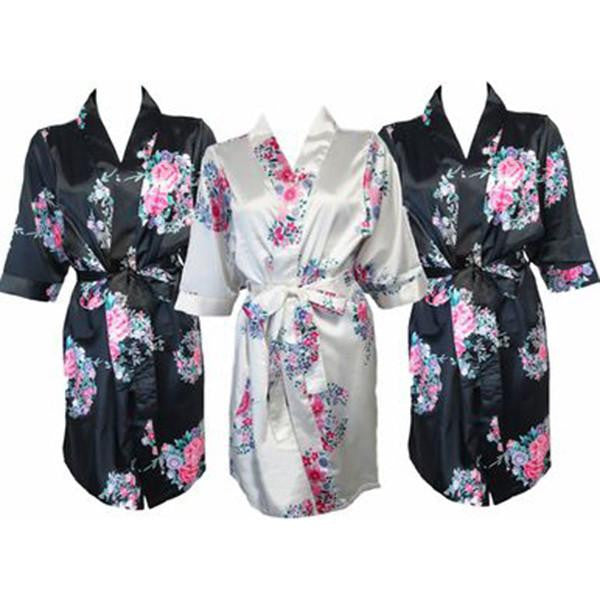 floral bridesmaid robes for wedding morning
