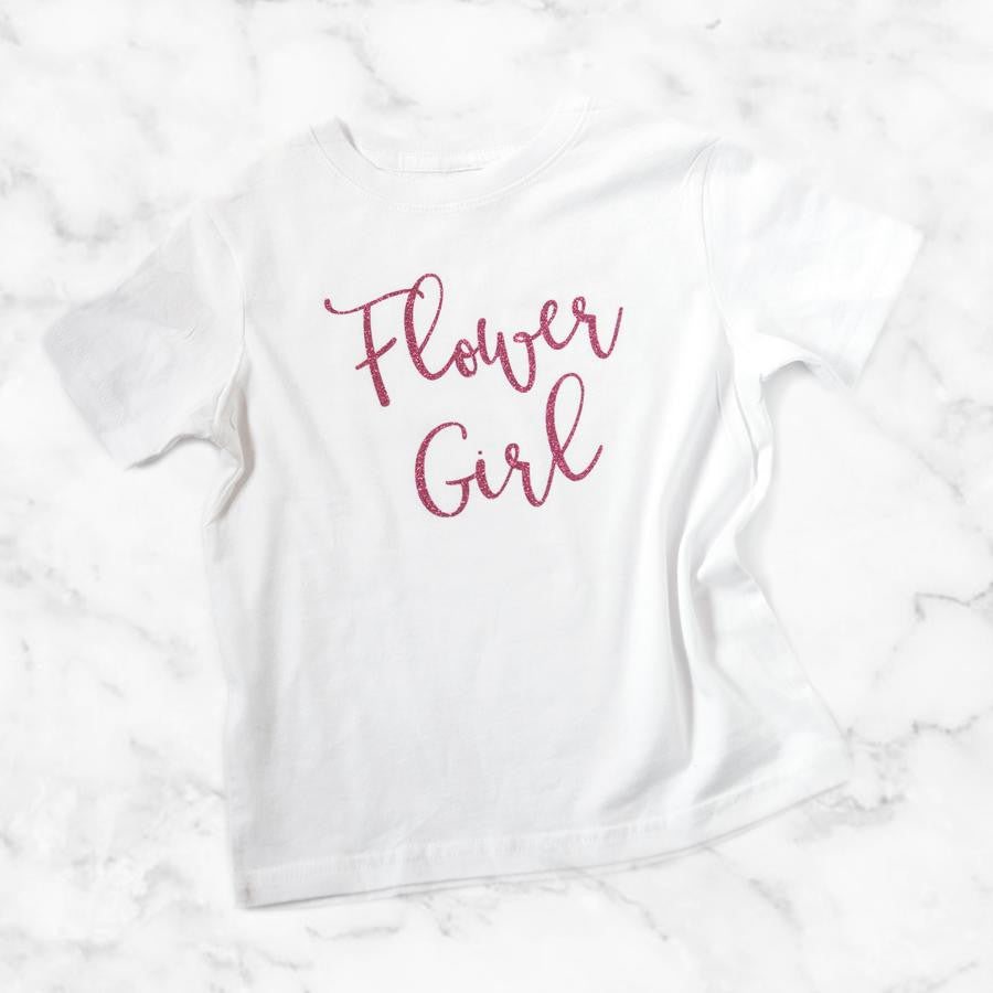 Flower Girl Glitter Shirt