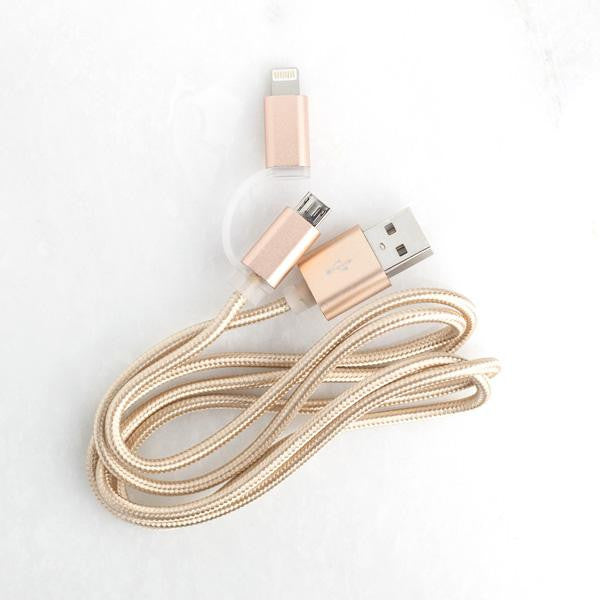 Gold USB Cable charger