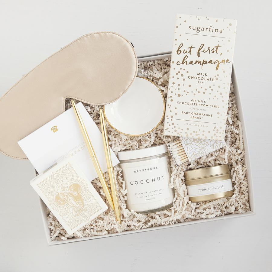 Good as gold bridal gift box foxblossom co bridal shower gifts engagement gifts luxury bridal gift box curated gift sets negle Image collections