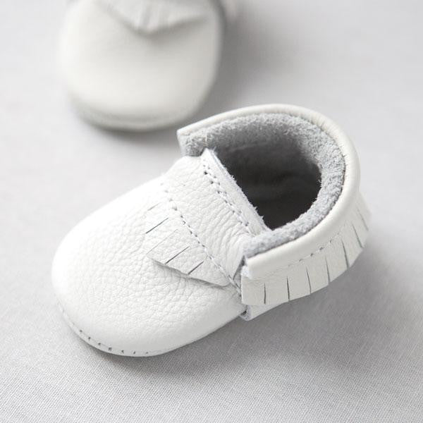 Baby Moccasins | Light Gray
