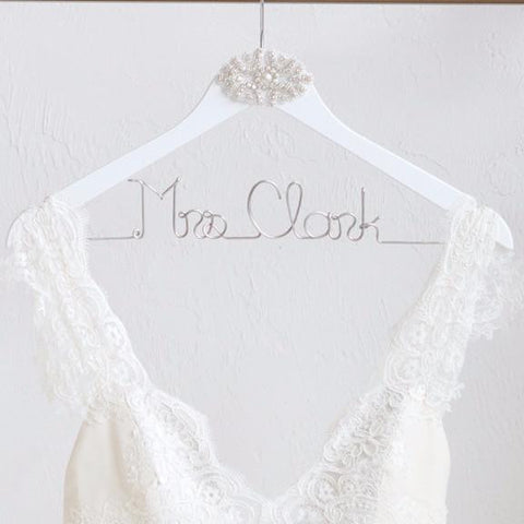 Personalized Bride and Groom Hangers