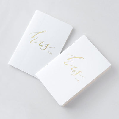Foil Stamped Vow Books