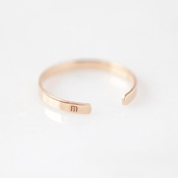 gold stacking rings, minimal personalized jewelry, bridesmaid gifts