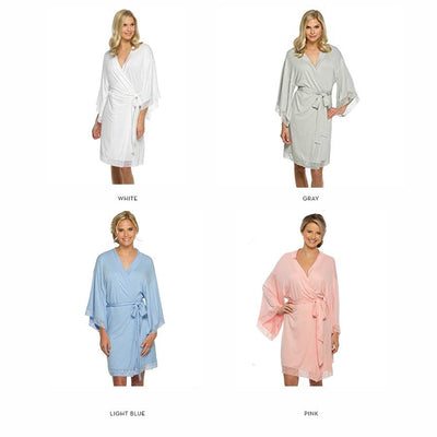 Personalized Embroidered Jersey Lace Robe