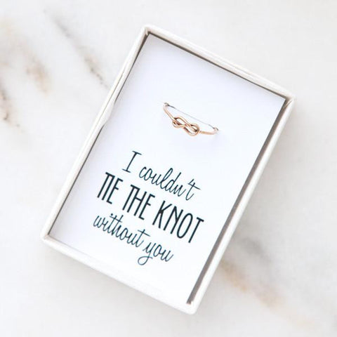 bridesmaid knot ring, bridesmaid proposals, bridesmaid gifts
